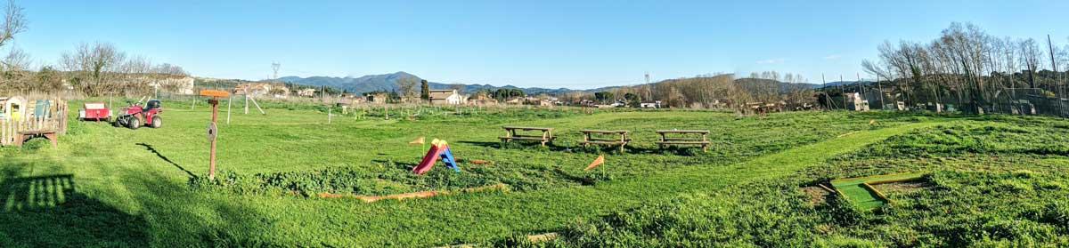 Camps verds exterior Montseny Aventura